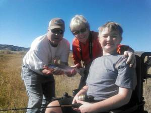 Isaac Bowman and Mother (Becky) - Outdoor Dreams Foundation 2014