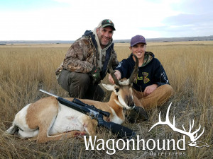 Jack Hennen with dad Joel 2018 Hunt at Wagonhound Land & Livestock with Wagonhound Outfitters